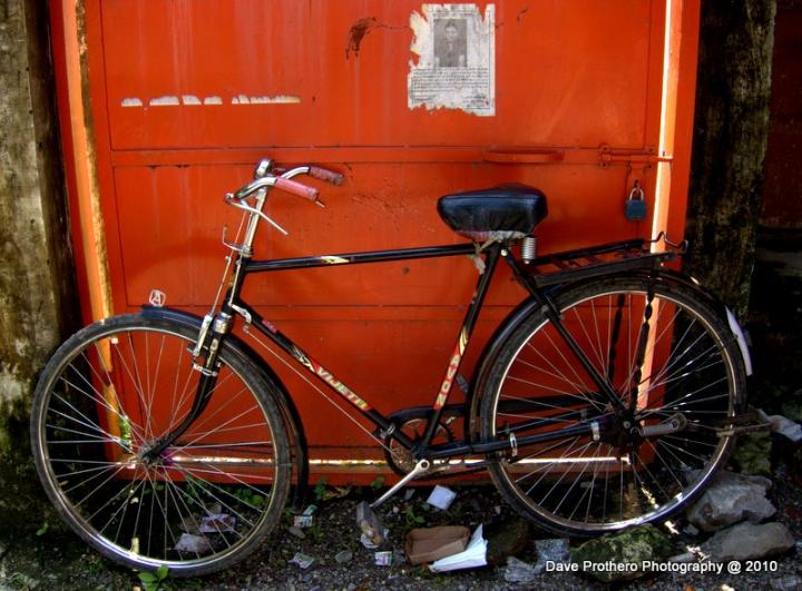 Orange Door Bike